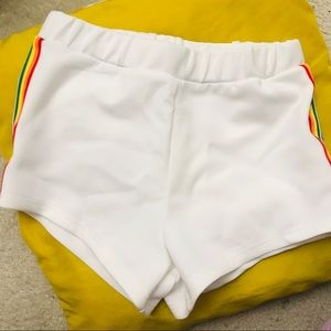 Rainbow White Sportwear Shorts